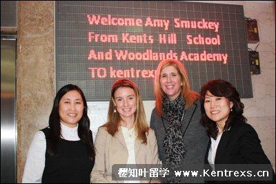 Kents Hill、Woodlands 招生代表与樱知叶老师合照
