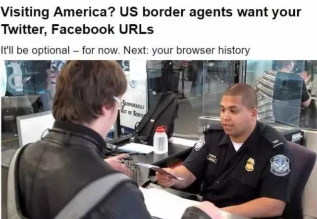 进出海关前,一定要检查手机电脑,看看你的推特,fb,微博微信qq短信.
